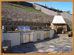 long outdoor kitchen