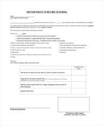 14 Doctors Note For School Professional Resume