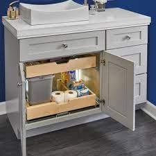 For Bathroom Vanity U Shape Under Sink Pullout Organizer With Blumotion Soft Close Slides By Rev A Shelf Kitchensource Com