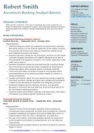 Private Equity Resume Mesmerizing Investment Banking Analyst Resume Samples QwikResume
