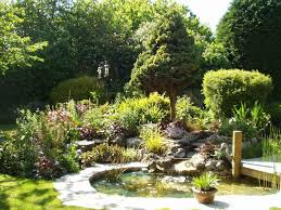 Small Picture small garden pond with waterfall and deck Landscape Garden