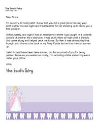 Tooth Fairy Letter Late Excuse