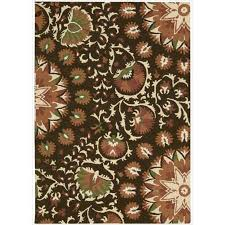 get ations hand tufted suzani brown fl bloom rug 5 3 x