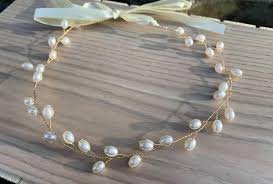 Lilly Gold Pearl Wedding Hair Vine Hair Accessories-Bridal   Etsy in 2020    Hair jewelry wedding, Hair vine wedding, Hair accessories roses