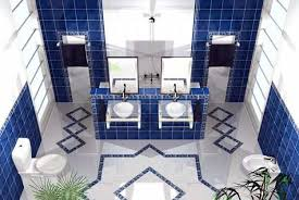 blue bathroom tile ideas:  bathroom color schemes you never knew wanted