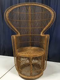 peacock chair large vintage wicker or