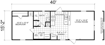 1 Bedroom Mobile Homes Bethany 16 X 40 607 Sqft Home Factory Expo Centers 13