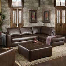 chelsea home fairfax casual capri dark brown faux leather sectional