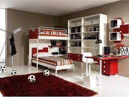 Amazing Shared Teen Bedroom Design for Boys showing White Loft ...