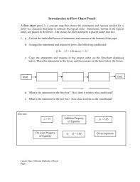 Factoring Flow Chart With Examples Introduction To Flow Chart Proofs Mdk12