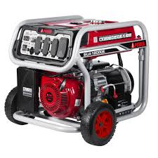 A iPower 12 000 Watt Gasoline Powered Electric Start Portable