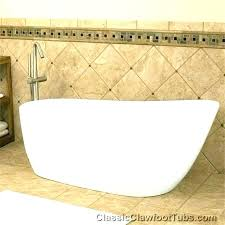 collection inch freestanding bathtub in white with brushed nickel drain and overflow 60 bathtubs canada bru