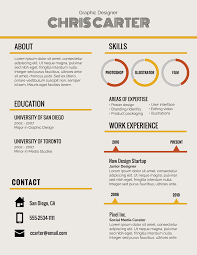 Infographic Resume Template Creative Resume Examples Inspiration