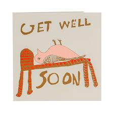 Get Well Soon Poster Get Well Soon Bird Card