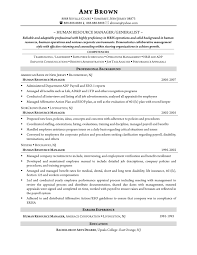 Example Of Resume For Human Resource Position