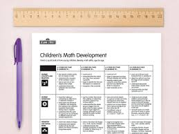 Math Development Chart Sesame Street In Communities Sesame