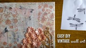 vintage wall art made easy diy mixed media canvas diy joy projects and crafts on vintage wall art canvas with vintage wall art made easy diy mixed media canvas