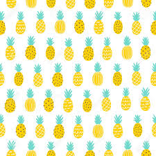 Pineapple Pattern Beauteous Tropical Pineapple Seamless Pattern Background Royalty Free Cliparts