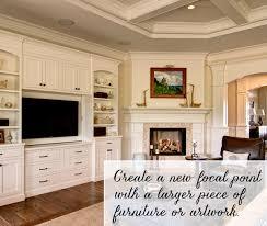 corner fireplace focal point