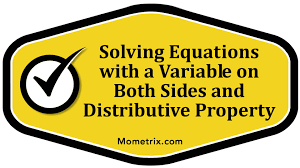 solving equations with a variable on both sides and distributive property you