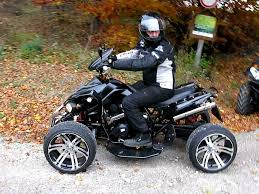 quad atv sp350j streetfighter black part 1 youtube