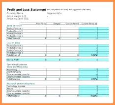 P And L Statement Template Impressive Excel P L Template Full Size Of Spreadsheet Pl Statement Monthly