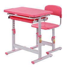 standing desk for kids.  For Muscle Rack 2Piece Pink Ergonomic Adjustable Kids Standing Desk And Chair On For T