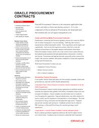 Purchasing Contracts Templates Data Sheet Oracle Procurement Contracts