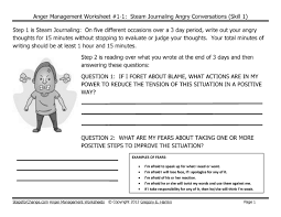 skill anger management techniques and worksheets steam journaling