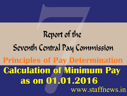 seventh pay commission report principles of pay determination and minimum pay calculation 7th cpc
