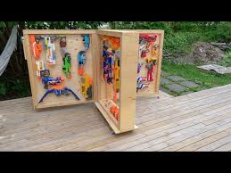The easiest nerf gun storage wall for under $50. Making A Rolling Nerf Foldout Storage Solution Youtube
