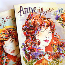 anne of green gables book cover ilrations and lettering by jacqui oakley