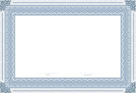 white certificate frame blue and white invitation template frame text structure