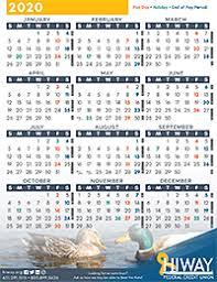 Payroll Calendars Hiway Federal Credit Union