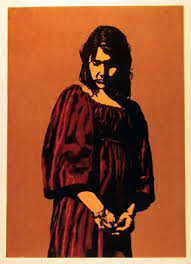 Bertha Vincent Walls, Pensive Girl, Screenprint, signed and ...