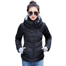 2019 2016 new women plus size long sleeve warm light down padded winter jacket women parkas for women winter coat fashion jacket from bichery