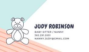 Customize 24 Babysitting Business Card Templates Online Canva