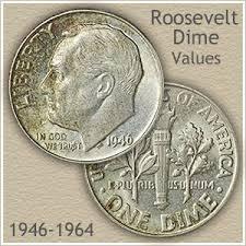 Dime Value Chart Silver Roosevelt Dime Values