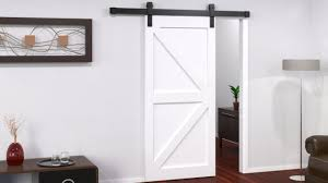 barn door track with white timber door