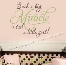 such a big miracle girl nursery wall words would have been perfect for our sweet chloe our miracle on wall art words for nursery with such a big miracle girl nursery wall words would have been perfect