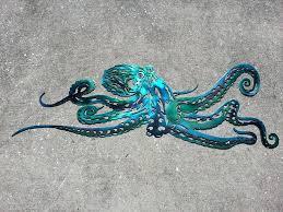 octopus metal wall art octopus metal wall art last minute gift aluminum octopus ocean art beach octopus metal wall art