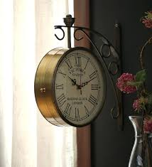two sided wall clocks decorative handmade clock double ping bistro hanging