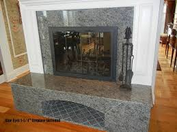 granite fireplace home