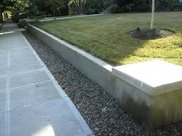 concrete block wall designs best concrete work images on landscaping backyard intended for cement retaining wall