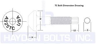 A325 Galvanized Bolt Torque Chart Tension Control Bolts Twist Off Bolts A325 A490 Haydon