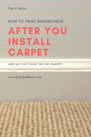 carpet paint. how to paint baseboards after you install carpet