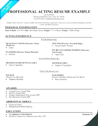 Acting Resume Template Download Talent Resume Template