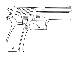 Gun Coloring Pages Nerf Gun Coloring Pictures Pages Marvelous Pistol