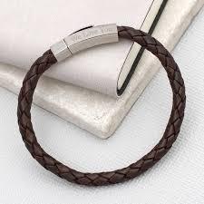 original personalised hexagonal clasp leather bracelet 1