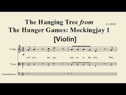 hanging sheet the hanging tree mockingjay violin sheet music by mmc